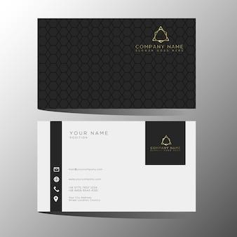 Luxus- und elegante schwarze goldgeschäftskartenschablone