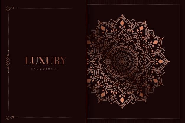 Luxus und eleganter mandalahintergrund