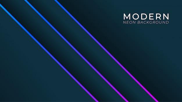 Luxus und realitic schwarzer hintergrund mit linie neonlicht. eleganter hintergrund