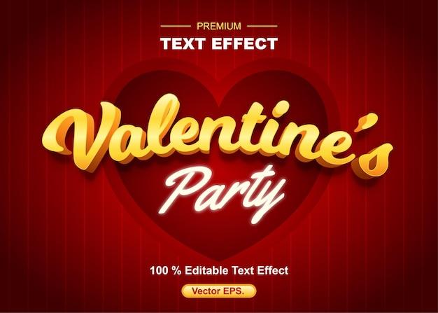 Luxus-valentinstagsparty-texteffekte