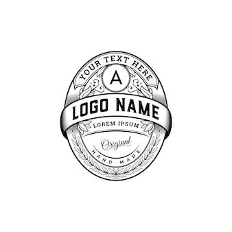 Luxus vintage abzeichen logo vorlage