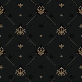 Luxus vintage hintergrund für elegantes design. hintergrund vintage, musterdekoration nahtlos. vektorillustration