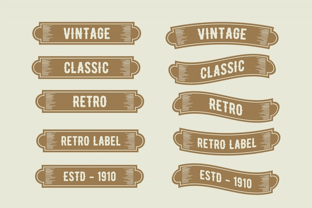 Luxus vintage label rahmen band design-kollektion
