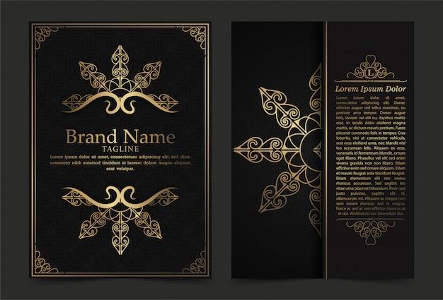 Luxus vintage verzierte bezüge im orientalischen stil mit mandala