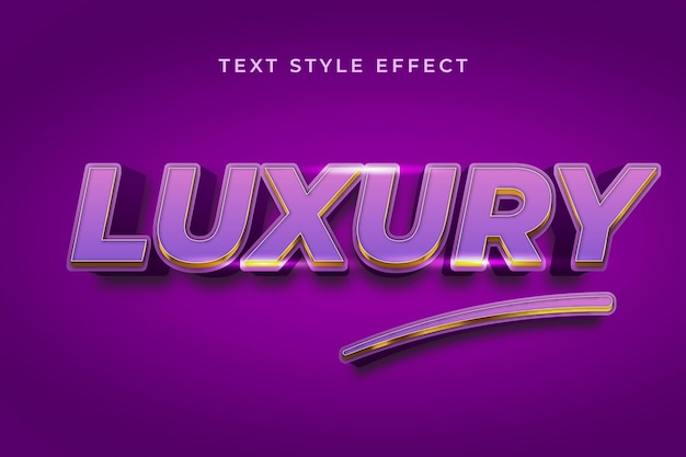 Luxus violet 3d bearbeitbarer textstil-effekt