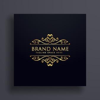 Luxus-VIP-Logo-Konzept für Ihre Marke mit Blumendekoration
