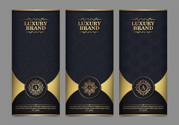 Luxus visitenkarte und vintage ornament logo vorlage. retro elegant blüht dekoratives rahmendesign