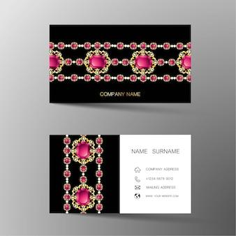 Luxus-visitenkarte. von diamanten inspiriert.