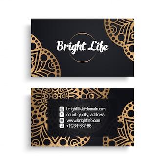 Luxus-visitenkarten-design