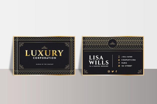 Luxus-visitenkarten mit farbverlauf