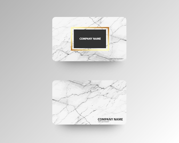 Luxus-visitenkarten mit marmor textur und gold