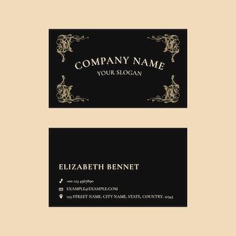 Luxus-visitenkartenvorlage im minimalistischen design