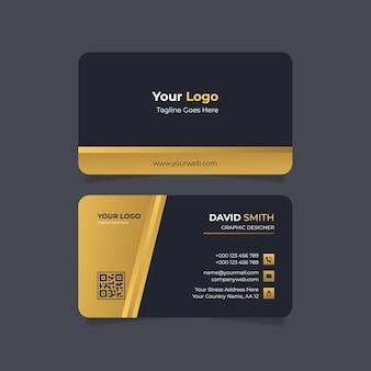 Luxus-visitenkartenvorlage mit farbverlauf