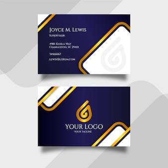 Luxus-visitenkartenvorlage