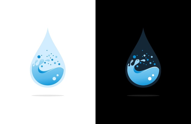 Luxus wassertropfen logo illustration