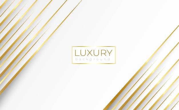 Luxus weißer hintergrund mit dynamischer goldlinie