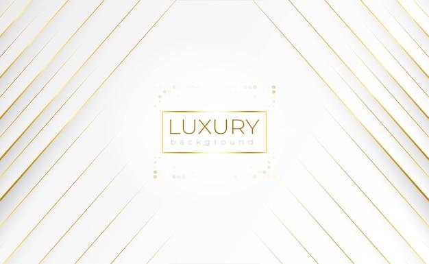 Luxus weißer hintergrund mit geometrischer goldlinie