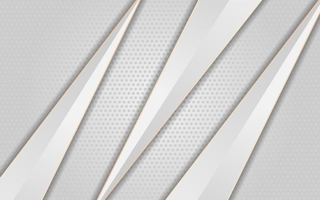 Luxus weißer hintergrund mit pfeil weiße linie gold