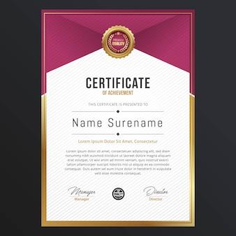 Luxus-zertifikatvorlagendesign