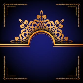 Luxus zier mandala arabesque hintergrund
