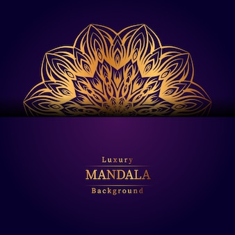 Luxus-zier-mandala-designhintergrund in der goldfarbe, luxus-mandala-hintergrund für hochzeitseinladung, buchumschlag