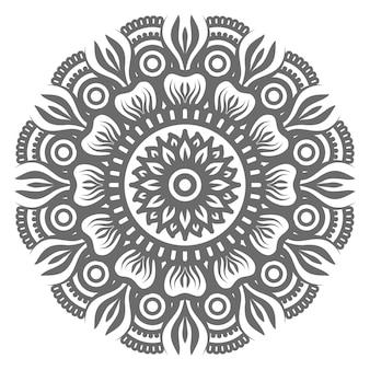 Luxus-ziermandala lokalisiert auf weiß