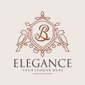 Luxus ziervogel logo design