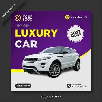 Luxusauto verkauf instagram promotion post