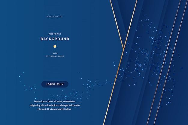 Luxusbanner mit klassischer blau- und goldfarbe