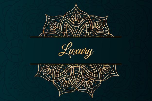Luxusbeschriftung und mandalahintergrund