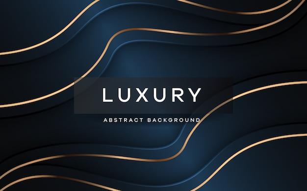 Luxusblaublauer hintergrund mit überlappungsschicht