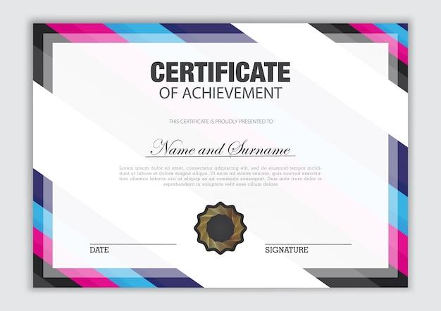 Luxusdesign der zertifikatschablone mit textelement, diplom