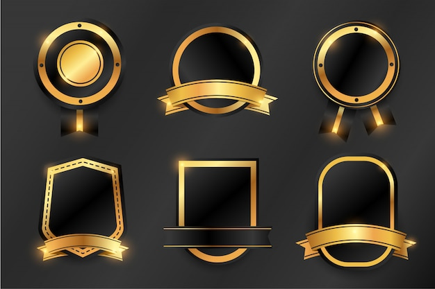 Luxusgold abzeichen