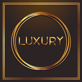 Luxusgoldgüsse im runden rahmen