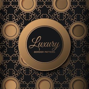 Luxusgoldrandmusterhintergrund