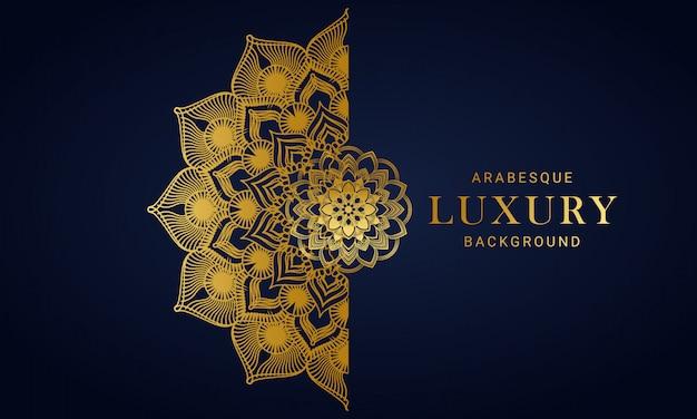 Luxushintergrund-design-schablone mit goldener blumenart