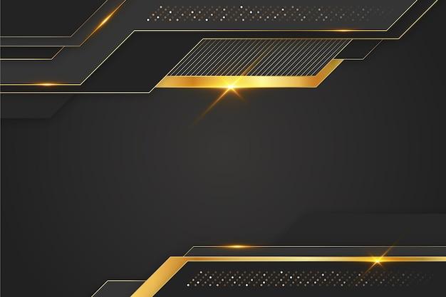 Luxushintergrund im papierstil mit goldenen linien Kostenlosen Vektoren