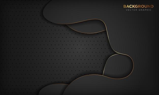 Luxushintergrund im schwarzen papierstil