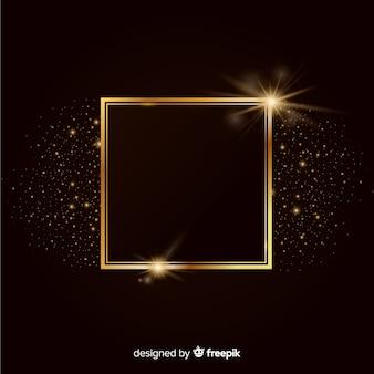 Luxushintergrund mit goldenem funkelndem rahmen