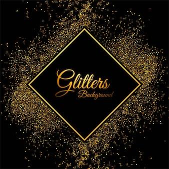 Luxushintergrund mit goldenem partikelrahmenhintergrund