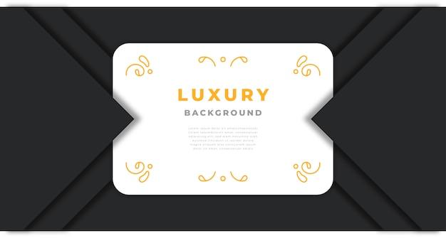 Luxushintergrund mit goldenen abstrakten formen und verzierungen