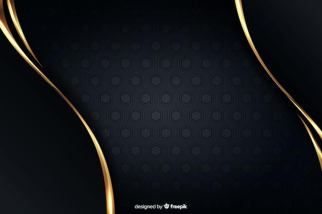 Luxushintergrund mit goldenen abstrakten formen