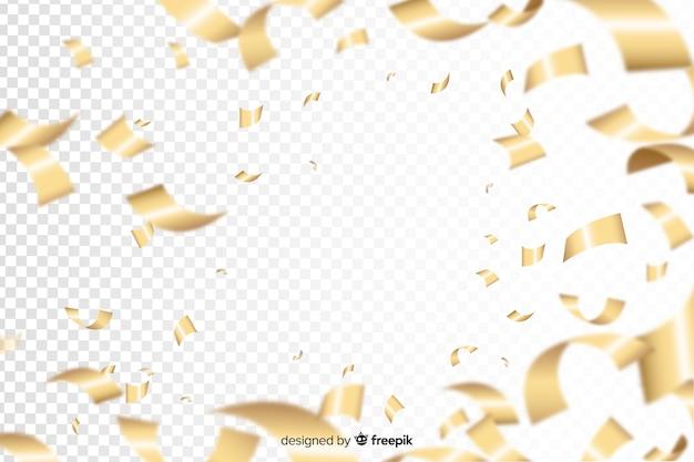 Luxushintergrund mit goldenen konfettis