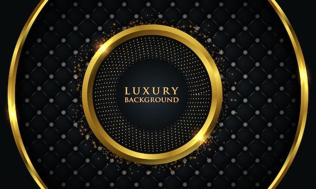 Luxushintergrund mit goldglühendem kreis