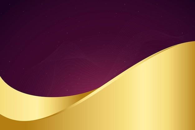 Luxushintergrundvektor mit goldwelle