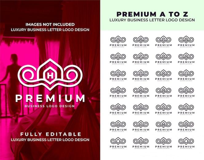 Luxushotel und restaurant von a bis z vintage logo design