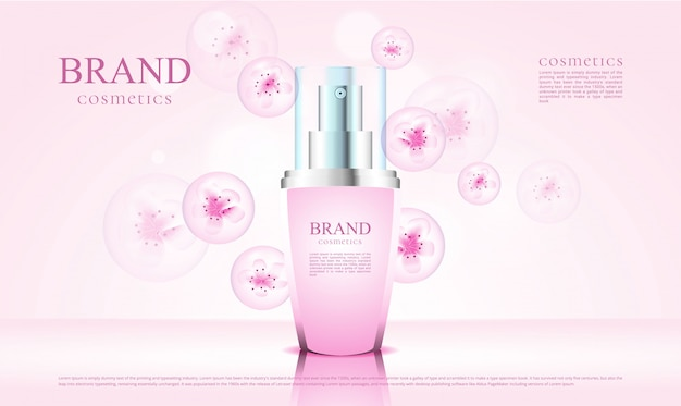 Luxuskosmetikblüte mit 3d-verpackung