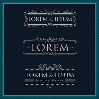 Luxuslogoschablonenkalligraphie blüht elegant