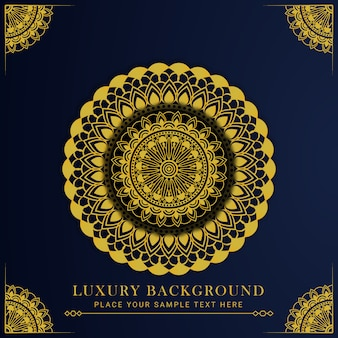 Luxusmandala-entwurf mit goldener arabeskenarabisch-islamischer ostart