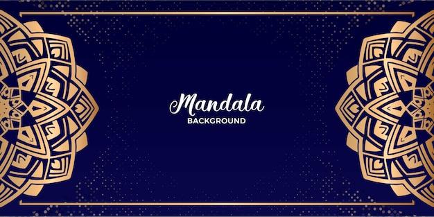 Luxusmandala-hintergrund-landschaft